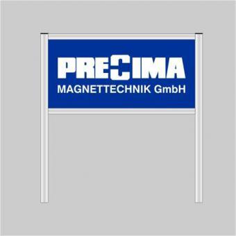 Firmenschild Aluminium silber eloxiert Model 1