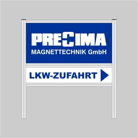 Firmenschild Aluminium silber eloxiert Model 2
